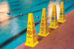 Pool Safety Cones, Clarion Water Safety, Clarion Safety Systems, Pool Safety Signs