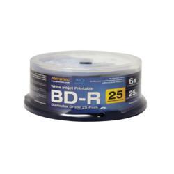Aleratec White Inkjet Printable BD-R 6X Duplicator Grade 25-Pack Blank Media 370104