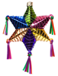 Star Piñata - Hand-painted glass ornament by CasaQ