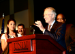 Veronica De La Cruz introduces Sen. Harry Reid (D-NV) at health care reform rally on Aug. 31, 2009