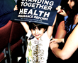 Young supporter of health care reform at Las Vegas rally for Sen. Harry Reid