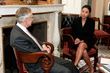 Veronica De La Cruz discusses her brother Eric's case with Majority Leader Sen. Harry Reid in Washington, DC on Aug. 4, 2009