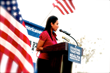 De La Cruz speaks at LA Rally for Health Care Reform