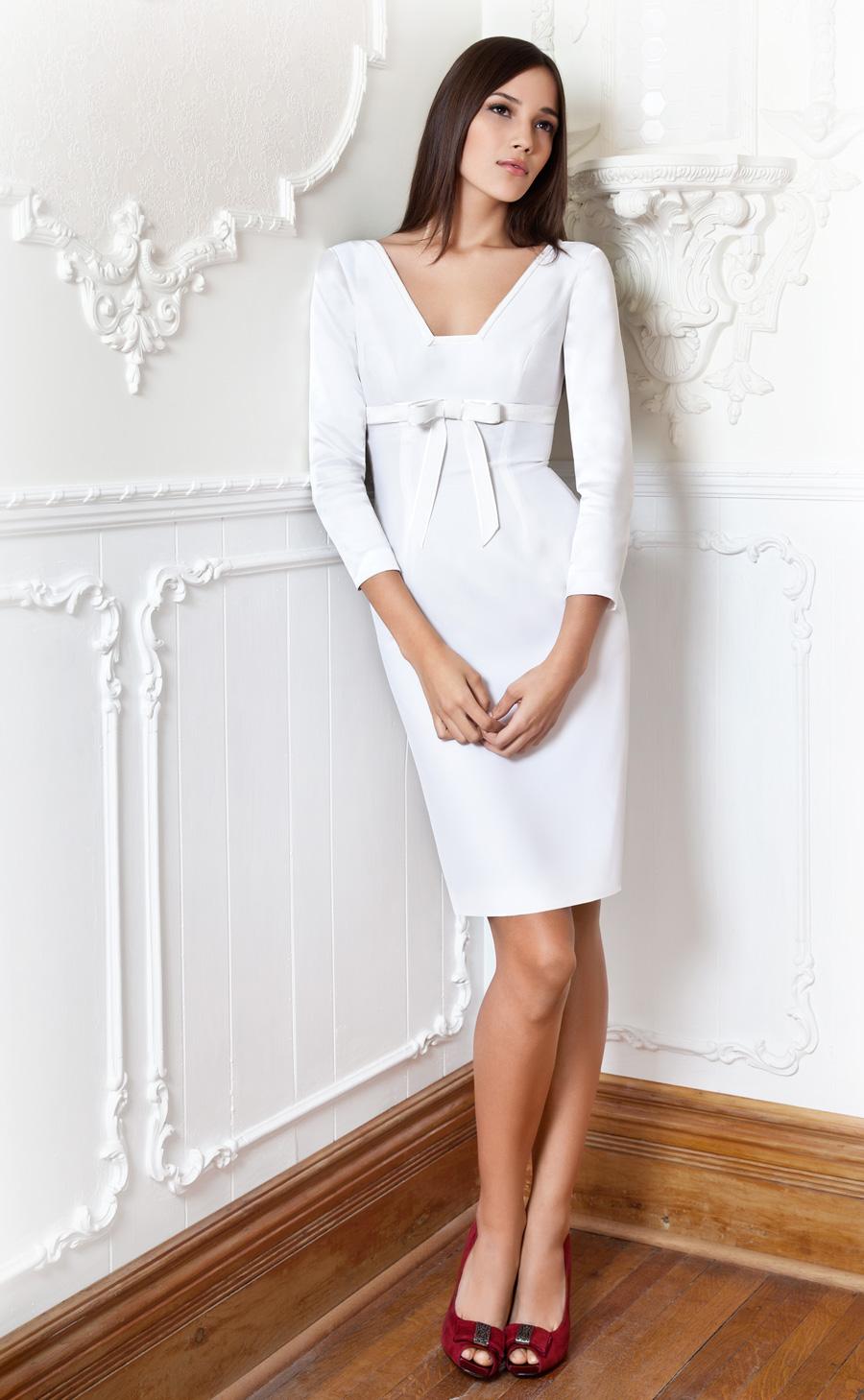 Белое Простое Платье Купить