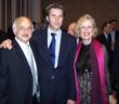 Dame Mira Zivkovich with His Royal Highness Prince Emmanuel Philibert of Savoy and Mr. James T. Vallas, Greek-American businessman of Red Bank, NJ, at the American Delegation of Savoy Orders Cocktail Reception in Geneva.