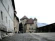 Exterior courtyard of the Annecy Castle which dates from the 12th century and includes sections added by Amadeus VIII, first Duke of Savoy, in the 1440?s.