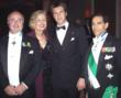 (l to r): Red Bank, NJ Mayor Uff.  Avv. Pasquale Menna, Dame Commander Mira Zivkovich, His Royal Highness Prince Emmanuel Philibert of Savoy with Cav.  di Gr. Cr. Avv. Carl J. Morelli, the American Delegate and Chairman of the American Foundation of Savoy Orders at the Savoy Gala Benefit Dinner and Ball in Geneva Switzerland on March 17, 2007.