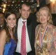 Medalist Mira Zivkovich with her son Brian Zivkovich-Choudhary and Lauren Jelencovich
