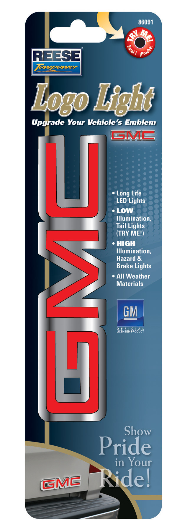Lighted GMC Emblem http://www.prweb.com/releases/led-hitch-covers-emblems/lighted-hitch-covers/prweb8294392.htm