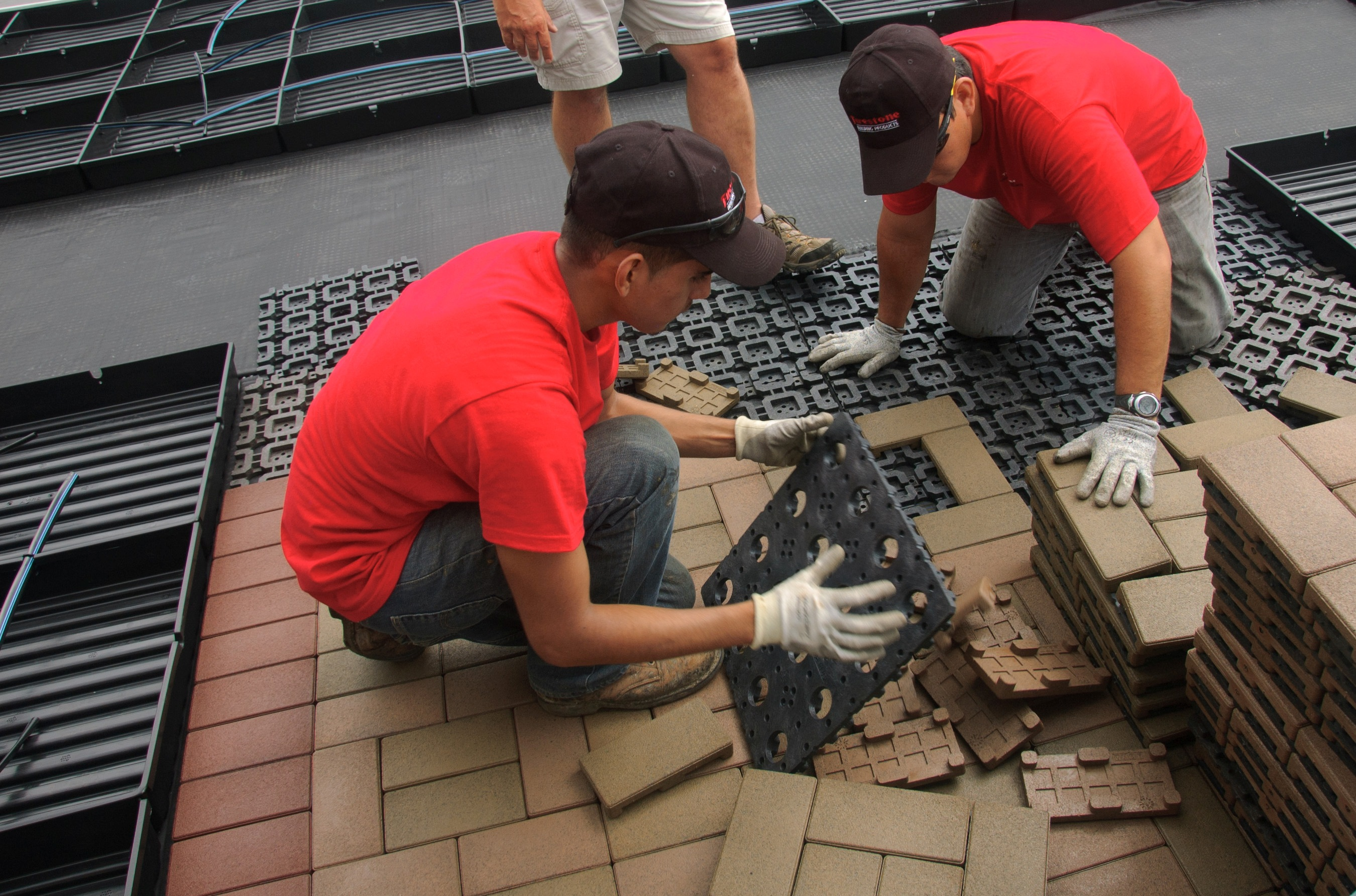 One Third The Weight Of Concrete Pavers, SkyPavers Require Fewer Crane  Lifts Up To Rooftops And Are Easier For Installers To Handle On Rooftops ...