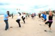 Lt. Col. Bob Weinstein, ret., takes his beach boot camp class at the Harbor Beach Marriott on Fort Lauderdale Beach in South Florida. www.beachbootcamp.net