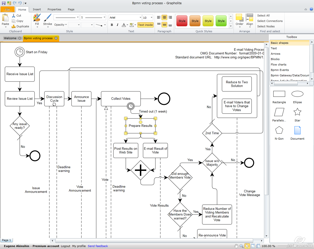 grapholite online diagramming solution now supports bpmn standard