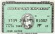 John Wayne's American Express credit card will be among more than 400 of his costumes, scripts, awards and personal items that will be offered to fans by his family in a public auction to be conducted by Heritage Auctions (www.HA.com) in Los Angeles and online, October  3 - 6, 2011.  (Photo credit: Heritage Auctions.)