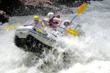 Whitewater rafting the Royal Gorge of the Arkansas River.