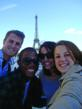 U.S. college students tour Paris and its iconic Eiffel Tower as part of a study abroad program with IES Abroad.