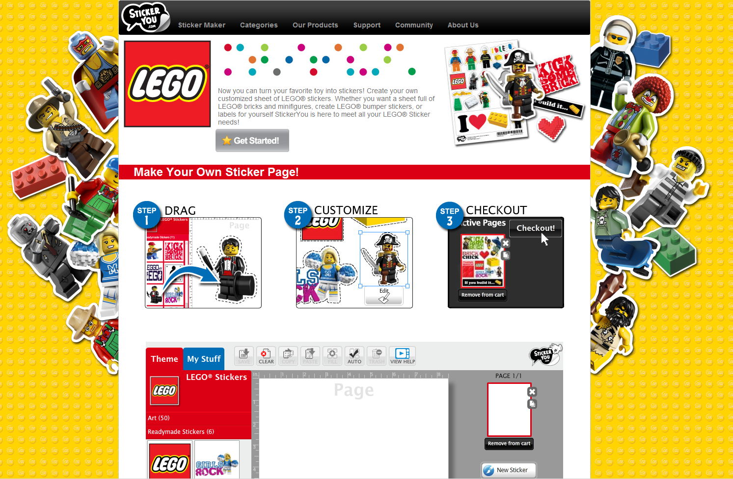 Image Gallery Lego Minifig Maker