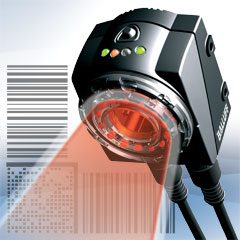 The Balluff Sharpshooter ID vision sensor reads Linear and Data Matrix codes