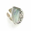 Silver and Mother of Pearl Cocktail Ring
