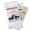 Calming lavender scented grooming wipes. Travel-sized pack of 10 large wipes.