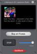 Listener can instantly buy the playing song at the iTunes Store