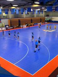 Snapsports provides futsal court for utah boy scouts at for Sport court utah