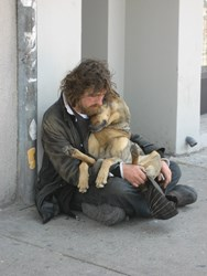 Homeless on the streets with pets