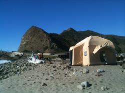 Life Cube deployed during wind-testing at Malibu