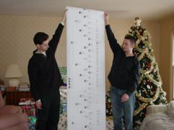 With a gift voucher in hand this Christmas, the genealogist in your family will be able to picture the family tree chart they've always wanted to have!The size chart shown above would be only $55.00.