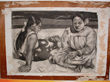 Charcoal drawing of famous Gauguin image