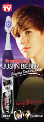 """Justin Bieber singing toothbrush sings """"Baby"""" while you brush!"""