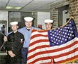 U.S. Navy Service heroes side by side.