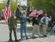 U.S. Veterans honored at parade.