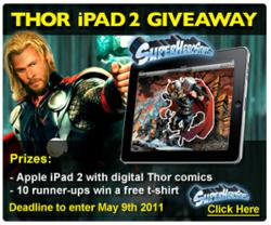 Win an iPad 2 with SuperHeroStuff's Thor Movie Promotion