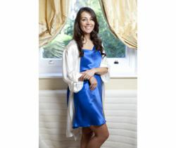 Bridal Royal Silk Nightgown and Silk Dressing Gown