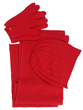 Cashmere cable knit gloves, hats and socks.