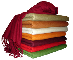 The Pashmina Store offers a wide variety of colors.