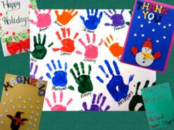 "A ""thank you"" art project made by children who previously received new books through First Book – Tampa Bay and Magnetic."