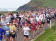 Run for the Seals start line at Rodeo Beach in the Marin Headlands.