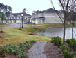 Annabella's Townhomes, view across common area lake's edge