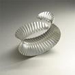 Sterling Silver Corrugated Cuff Bracelet