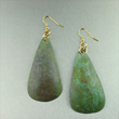 Apple Green Patinated Copper Earrings