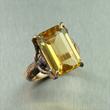 Citrine Bronze Ring