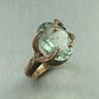 Green Amethyst Bronze Ring