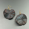 Maroon Patinated Copper Earrings