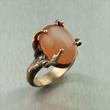 Peach Moonstone Bronze Ring