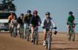 Cyclists begin the guided descent down Pikes Peak.