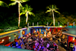 The Blue Dragon features live music presented in a festive space with a 'ceiling' that is open to the Hawaii night sky.