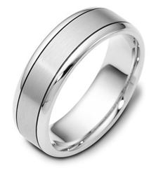 14K Gold Comfort Fit 7mm Wide Wedding Band from WeddingBands.com