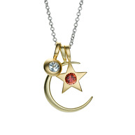 Luna stella birthstone necklace featured in us weekly 39 s for Luna and stella jewelry