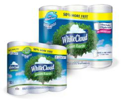 White Cloud recycled toilet paper and paper towels